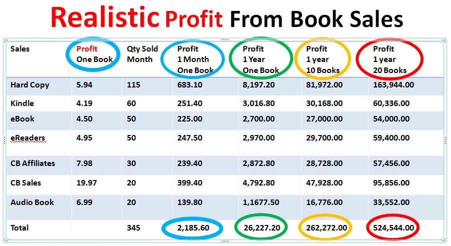 realistic sales correct profit amountsxx